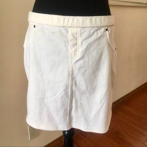 White Minnie Skirt Sz L